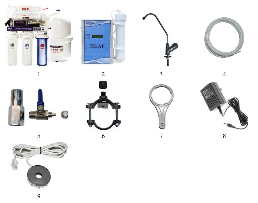 Установка икар лучший фильтр для воды комплектность