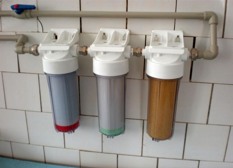 магистральный фильтр для очистки воды дома дачи