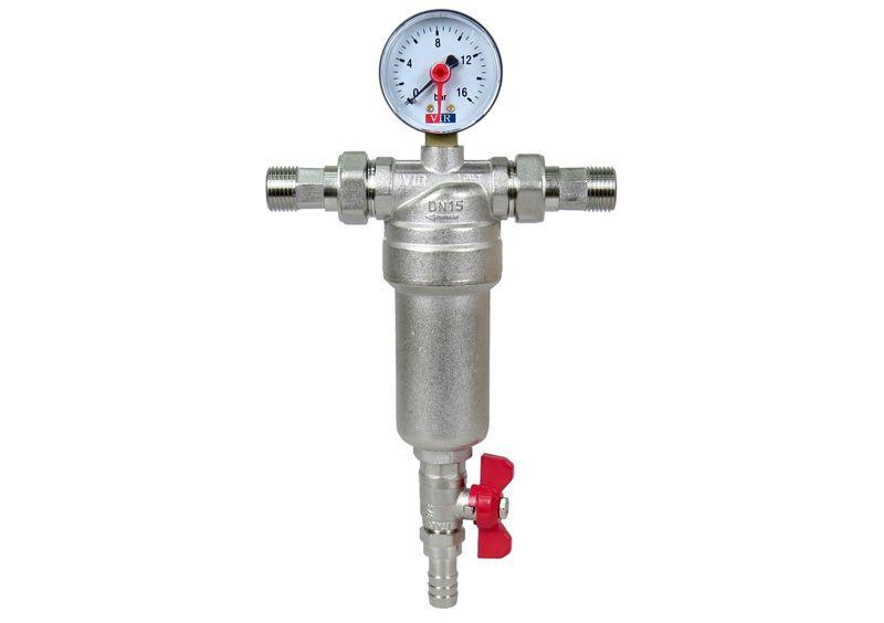 сетчатый фильтр очистки воды магистрального типа