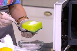 как очистить микроволновку от жира