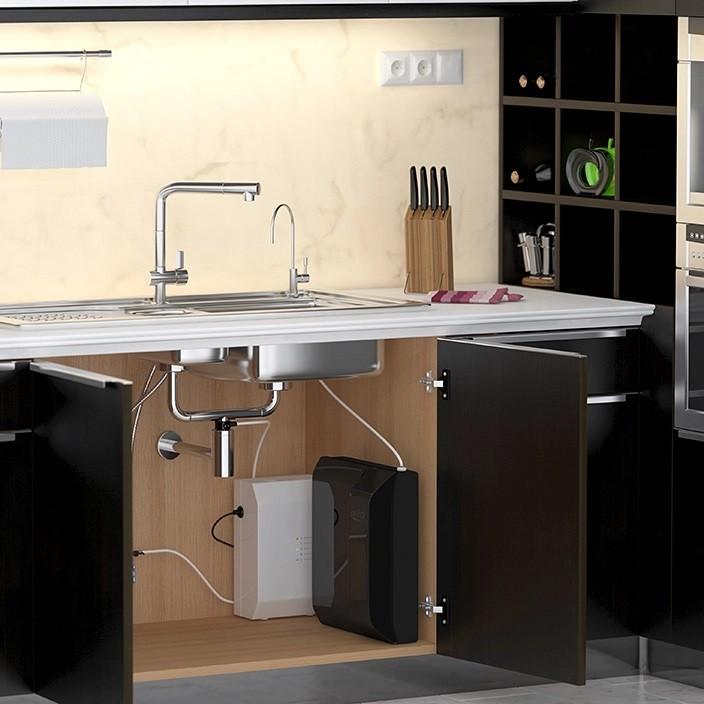 обратный осмос компактный с установкой на кухне под мойкой